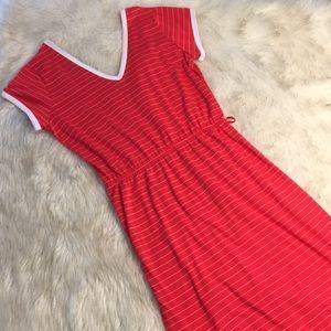 Vintage 70's Double V-neck T-shirt Dress